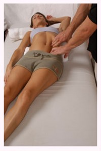 Finger Pressure on Rectus Abdominus - Clinical / Medical Massage Therapy School in Charlotte, North Carolina